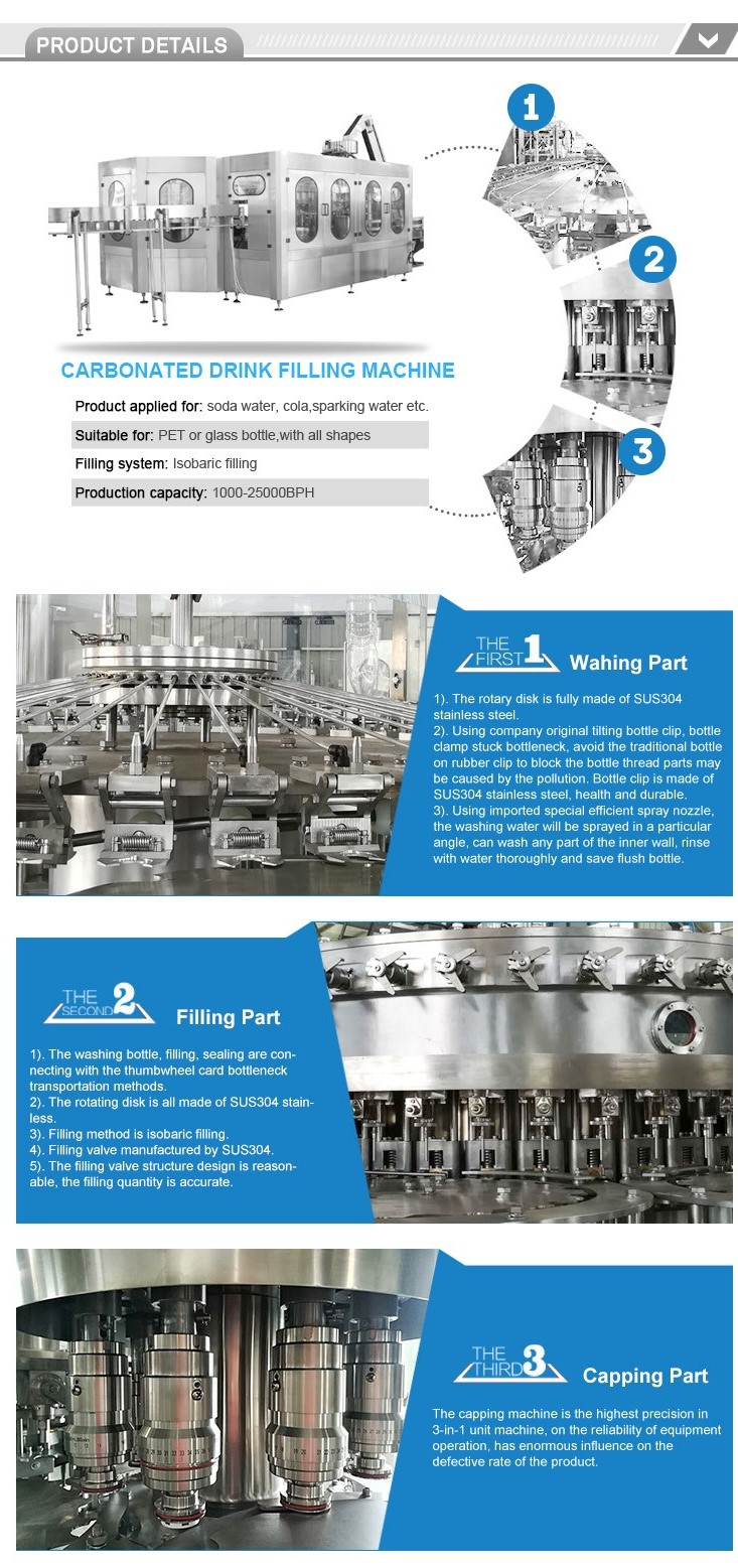 energy drinks beer bottling carbonated rinsing filling capping machine and equipment OEM factory price