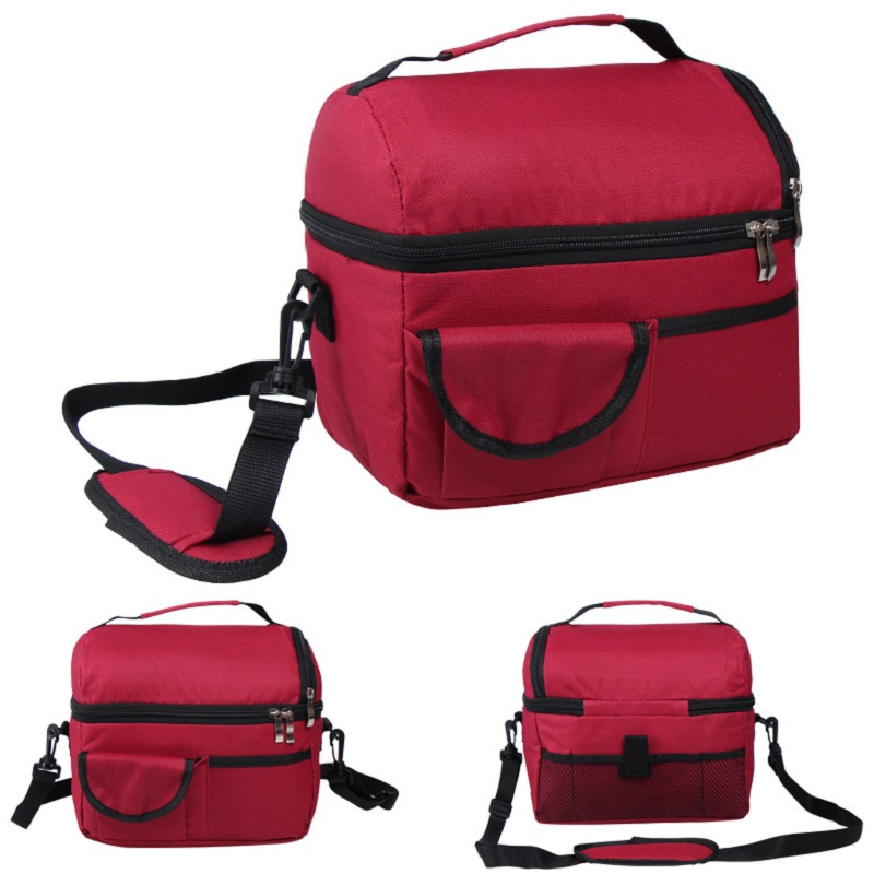 product-Newest fashion large capacity Adult Kids Portable Insulated Lunch cooler Bag Work Picnic Bag-2