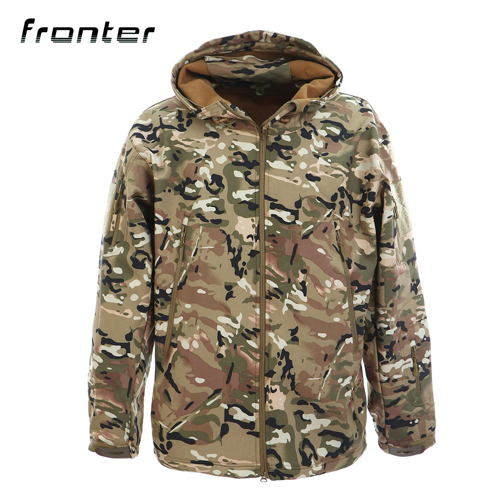 New Custom Design Breathable <strong>Military</strong> Army Tactical <strong>Style</strong> Camo Men Softshell <strong>Jacket</strong>