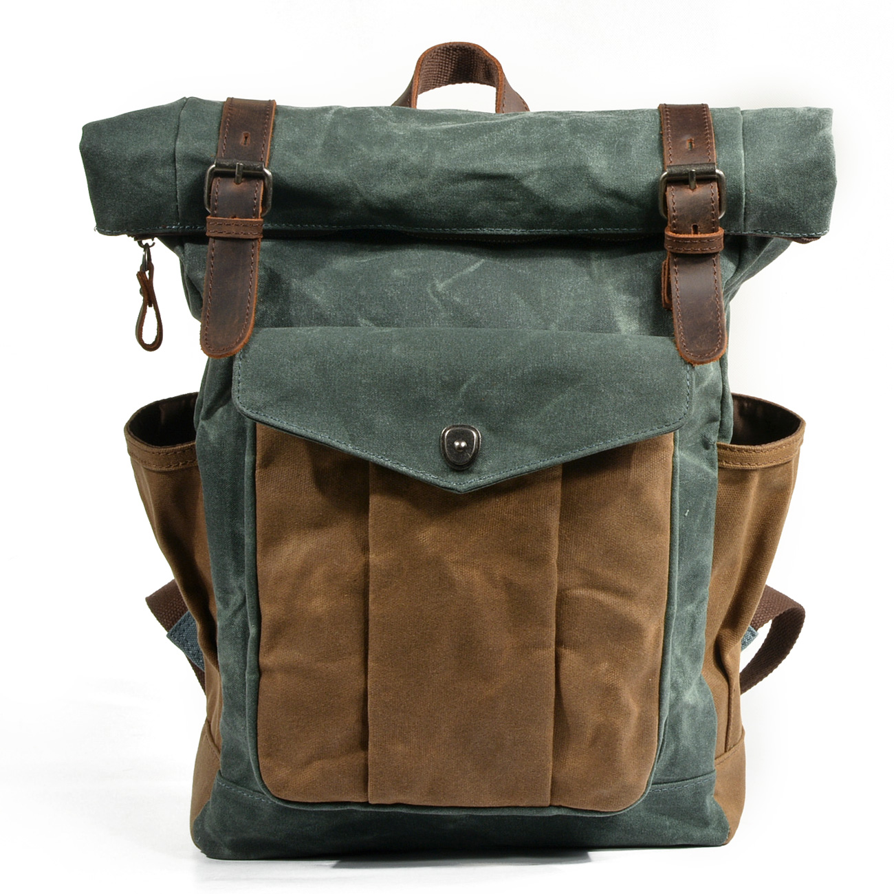 product-GF bags-mochilas Wholesale Retro Mountaineering Mens Outdoor Bag Waterproof Waxed Canvas Men