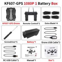 KF607 GPS Дрон с 4K HD двойной камерой 1080P 2,4G/5G Wi-Fi FPV оптический поток RC Quadcopter следуй за мной мини Дрон дроны VS E520S(China)