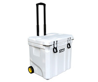 Multifunction 35L food-grade ice cooler box with wheels and stainless handle
