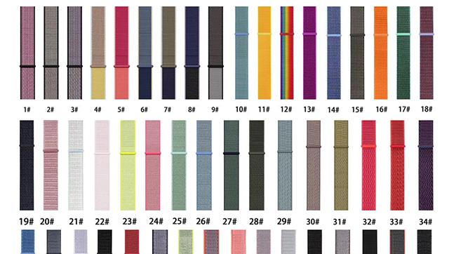 BOORUI nylon strap for apple watch fashion colorful watch strap for apple watch band series 1 2 3 4 5