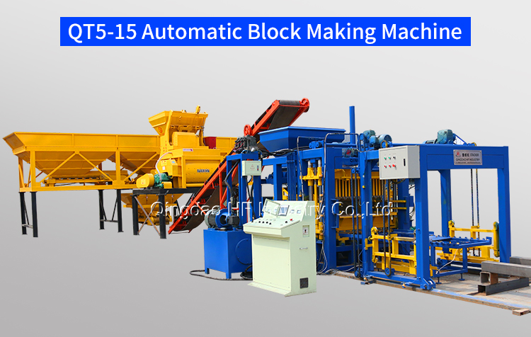 full automatic brick making machine concrete block molding machine QT5-15 block making machine for sale