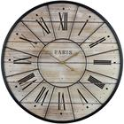 French Country Rustic Modern Farmhouse wood decor Roman Numeral Hands Oversized wood frame wood hand clock