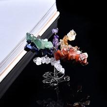 1 шт., натуральный кристалл, минеральные украшения, дерево жизни, украшение, волшебный ремонт, семейный домашний декор, украшение для пар, под...(Китай)