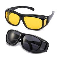 UNISEX HD DAY &NIGHT VISION DRIVING UV400 SUNGLASSES FITOVER GLASSES AS SEEN TV ANTI GLARE