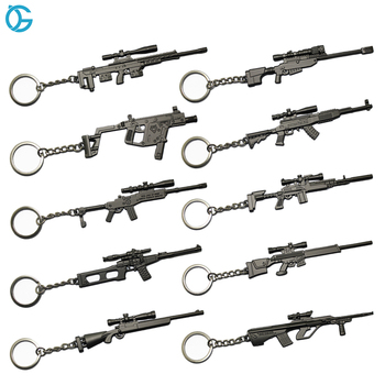 High Quality Metal 3D Game Mini Cap Keyring Guns And Weapons Army For Hunting