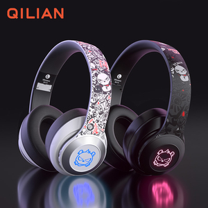 BH10 Customized Logo BT 5.0 wireless headset LED Gaming headphones with mic for gamer xbox ps4