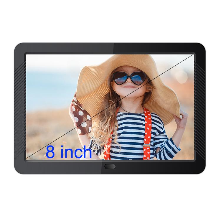 digital picture frames auto slideshow 8 inch black IPS screen full hd digital photo frame