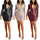 Wholesale Women Sexy Black Mini Dress Cheap Paypal Leather nightclub Bandage Dress