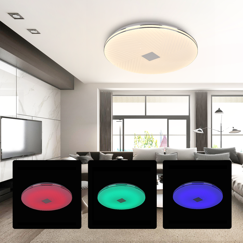 Modern Three Colors Ceiling Lights deckenleuchten Wall Lamp Rgb Dimming Lamps Surface Mounted livarno lux led lamp Round Simple