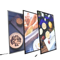 led photo frame light box glass advertising led restaurant menu board
