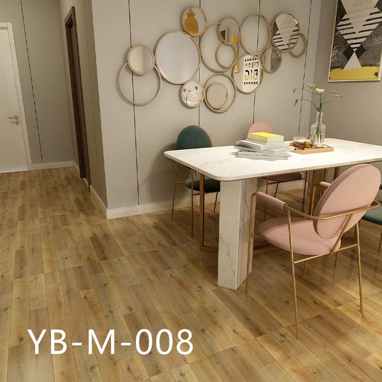 Wood Luxury Vinyl Roll Heat Resistant Self Adhesive PVC Vinyl Flooring
