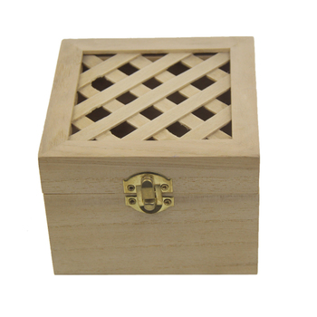 Home Decor Storage Unfinished natural solid pine Wood Classic Box Crafts