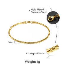 Женский браслет на щиколотку, простой браслет из нержавеющей стали унисекс, 10 дюймов, KAM01B(Hong Kong,Китай)