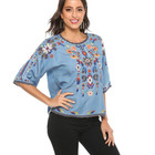 New Blouse 2020 New Arrival Fashion Ladies Chiffon Embroidery Blouse And Tops