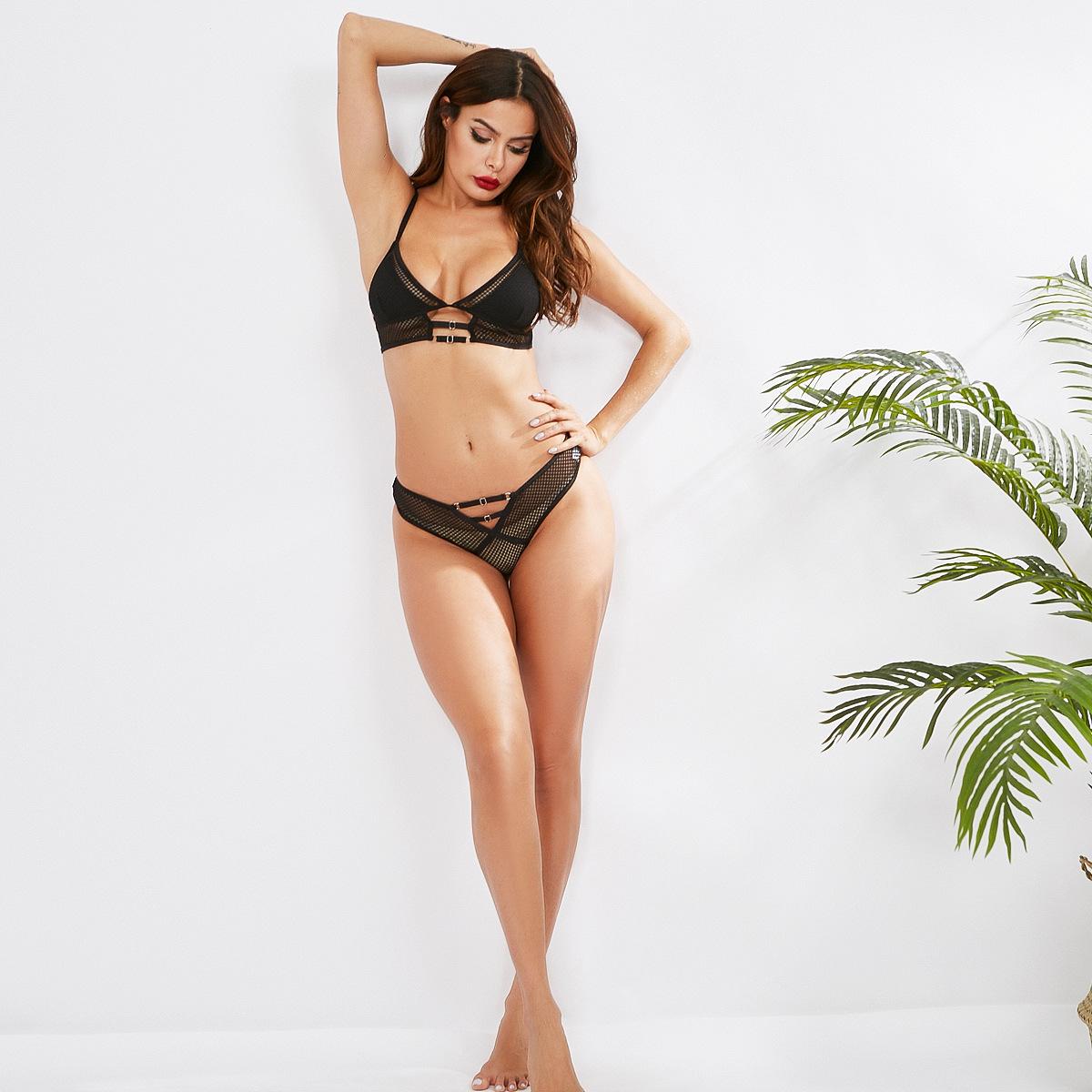 Cina Commercio All'ingrosso Della Biancheria Delle Donne Hot Sexy Set Reggiseno Slip Signore Lingerie Set