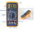 CE digital multimeter with data hold MY64 multitester
