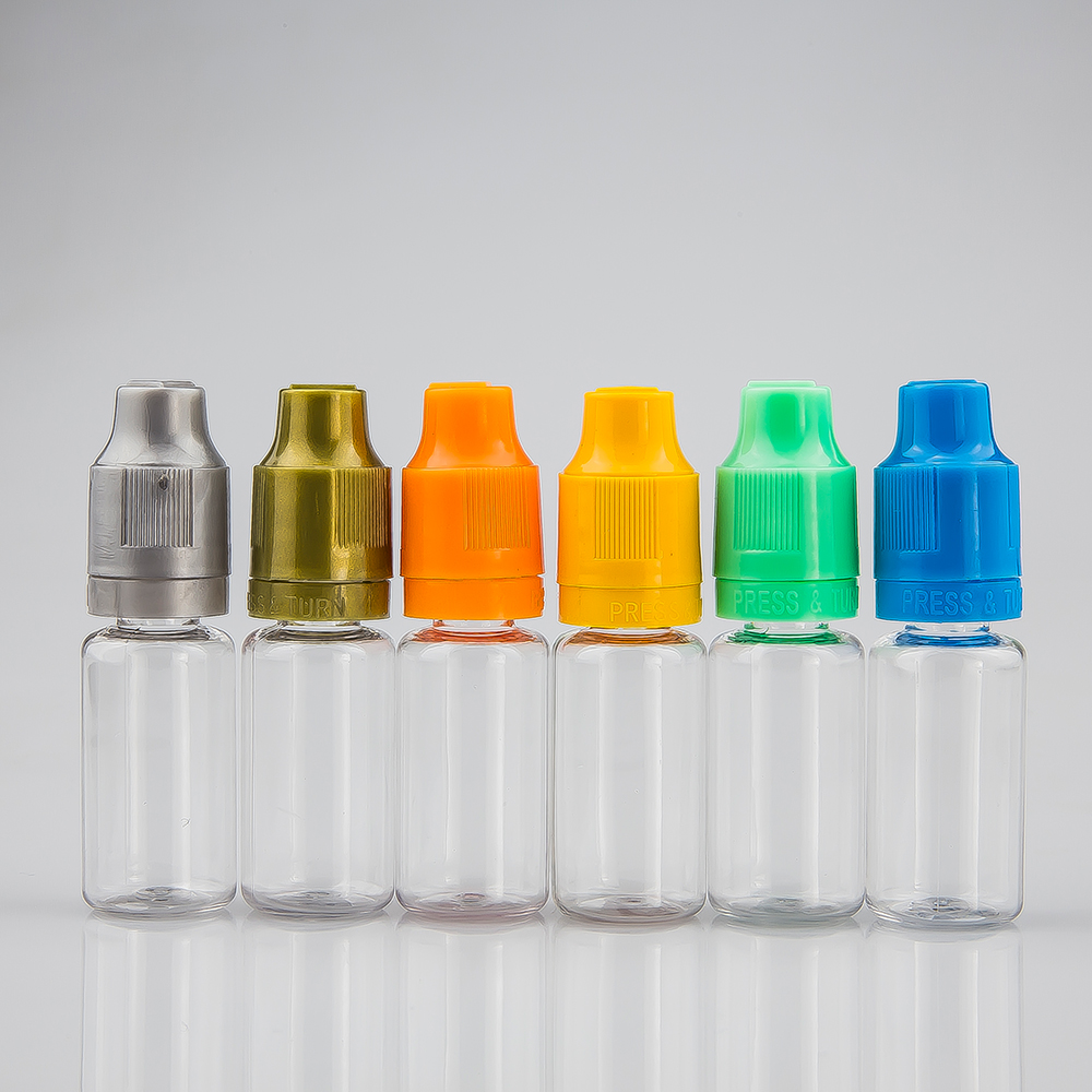 5ml 10ml 15ml 20ml PET e liquid eye drop dropper plastic bottle with childproof screw cap