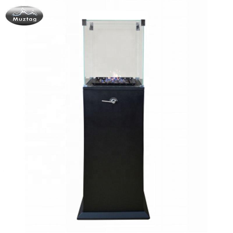 Черный камин Небольшой камин вставки газовый металлический нагреватель камин