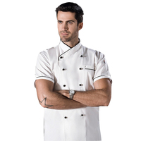 High quality black traditional chef coat for catering