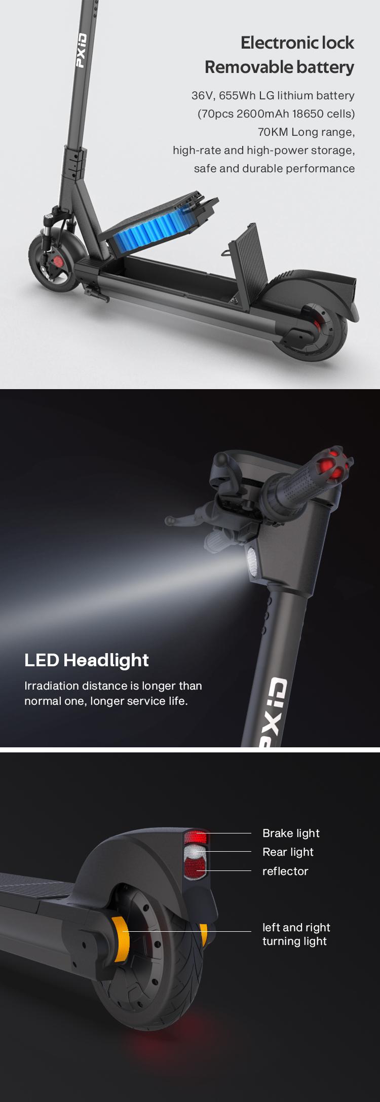 Scooter Rear Light Light 36V Type 15 HMParts E
