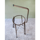 Vintage Metal 4 Leg Plant Stand Utility Industrial Steampunk Ashtray Stand, Handle