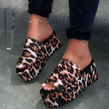 DORATASIA/новые женские леопардовые уличные тапочки, без шнуровки, на платформе, большие размеры 35-43, на лето 2020(Китай)