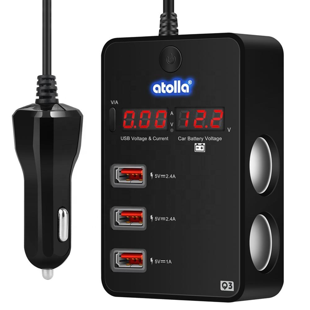 Livraison Gratuite Voiture Chargeur USB Chargeur Adaptateur 120W 12V ou 24V 3 USB Recharge pour Voiture 2 prise Allume Cigare