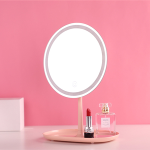 New Product Ideas 2019 innovation LED light illuminated makeup mirror for wedding decoration and gift