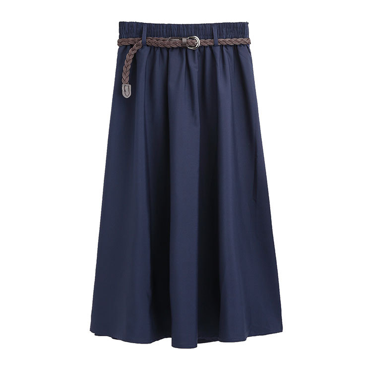Summer Skirts Womens With Belt A-line Spring Bandage Casual Student Summer Loose Skirt