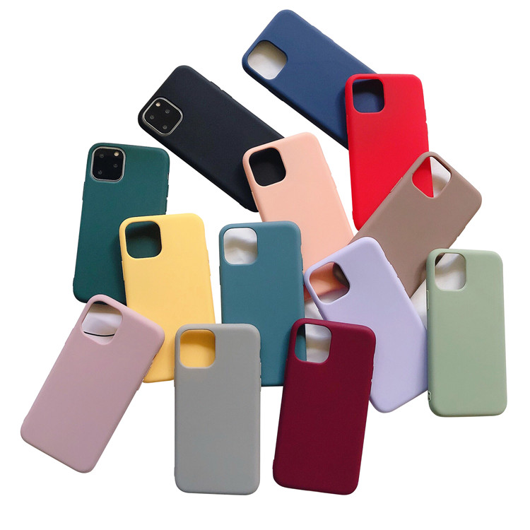 Matte Soft Tpu Silicone Shockproof Phone Coque Cover Pro <strong>Max</strong> For Iphone 11 Case