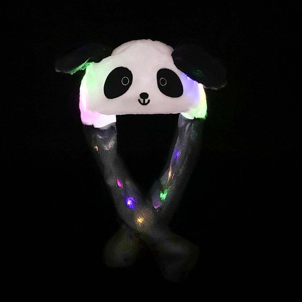 Модная шапка с заячьими ушками, подвижная шапка для прыжков с лампой, светильник, блестящие забавные игрушки, шапка, хороший подарок для жен...(Китай)