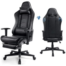 AOQI PU Lederen Gamer Fauteuil Luxe Video Game <span class=keywords><strong>Stoel</strong></span> Zwart Bluetooth <span class=keywords><strong>Gaming</strong></span> <span class=keywords><strong>Stoel</strong></span> <span class=keywords><strong>Gaming</strong></span> Racing Bureaustoel Met Bluetooth