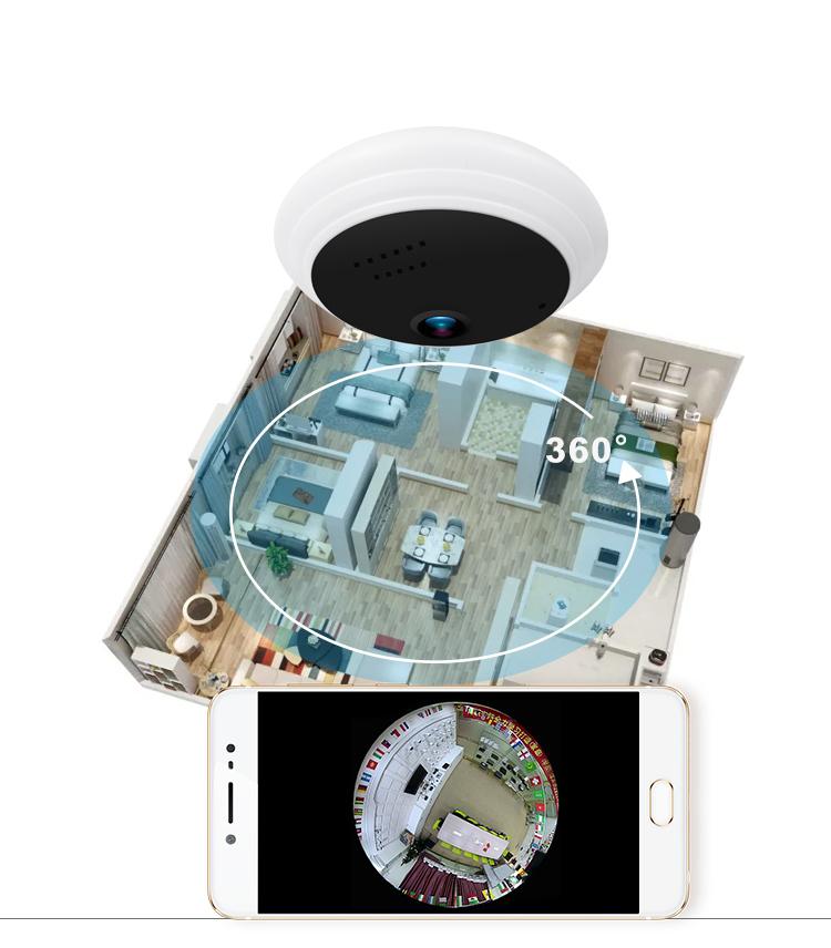 1080P Hd Ip De Vidéosurveillance De Sécurité À Domicile Système Wifi Mini 360 Degrés Sans Fil Caméra Panoramique