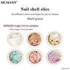 Nail Color Nails Sticker 6 Colors MCMANN Factory Wholesale Nail Art Sequins Decoration Fashion Female Round Bottled Color Shell Slice Designers Nails Sticker
