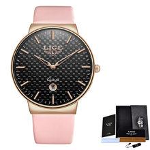 Relogio feminino LIGE Для женщин часы Топ Элитный бренд девушка кварцевые часы Повседневное кожа женская одежда часы Для женщин Reloj Mujer(China)