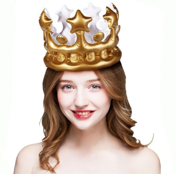 Christmas Decorations Inflatable Princess Crown and Kids Birthday Party Inflatable Crown