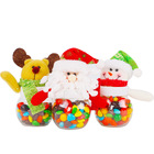 Lovely Hot Santa Claus Elk Snowman Candy Jars Container Christmas Ornaments Kids Gift Boxes Holiday Party Table Decor