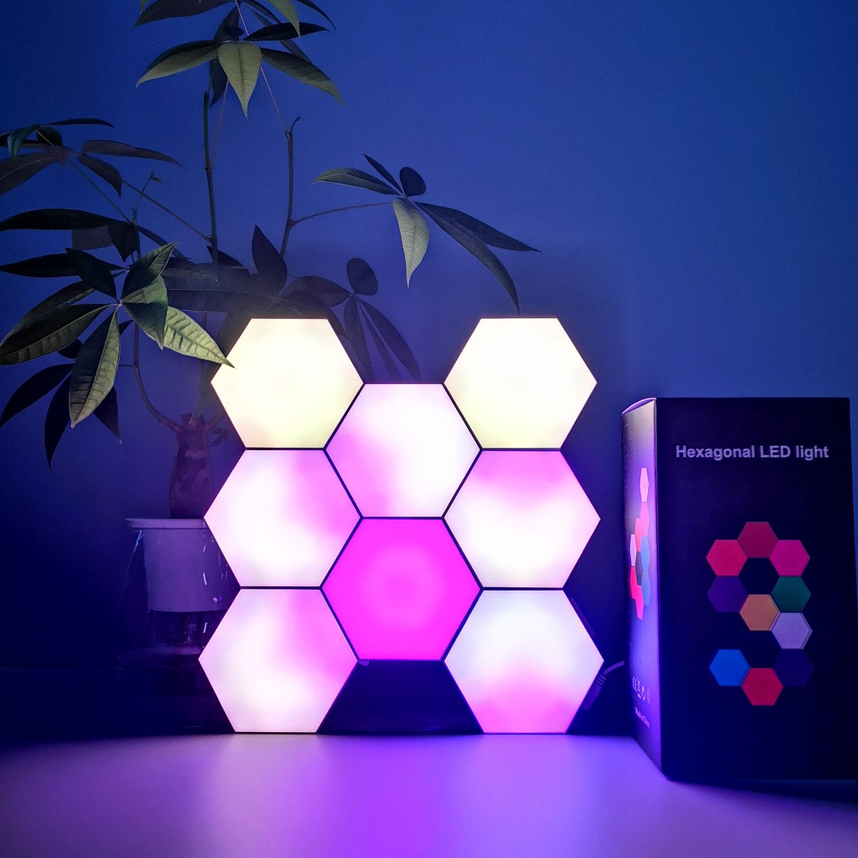 Best Room Setup for Gaming Phone App Controlled 16 Million Color Northern Color Hexagonal Led Light