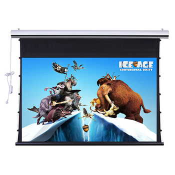 100 Diagonal 16:9HDTV Home Cinema 4K Tab-Tension Motorized projection Screen with ALR Grey ambient light rejecting grey
