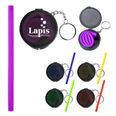 FDA Disetujui Pribadi LOGO Dicetak Clear Square Kotak Kemasan Colorful 25 Cm Pipa Lurus Dilipat Silikon Minum Jerami