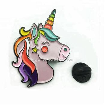 custom new product gifts & crafts unicorn metal pin badge