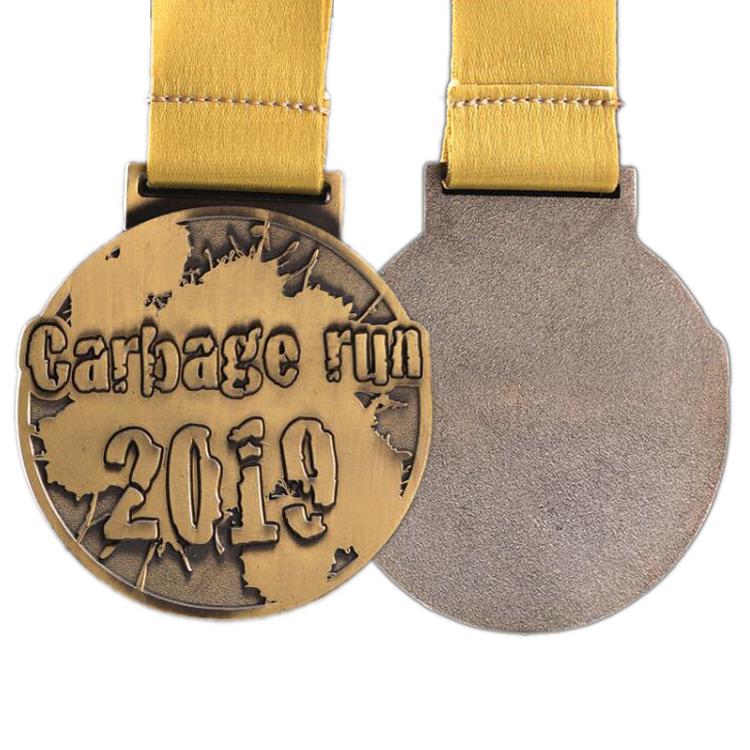 אירוע זהב מתכת מדליון ריק דפוס אופסט הפרס עם אפוקסי ספורט סופגנייה וגביע צבאי מדליות מרוץ מדליית תצוגה