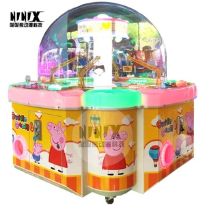 Coin operated 4 people cute candy house coin pusher digging gift game machine