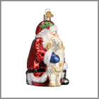Decor Table Christmas Decorations - Santa Claus Glass Topped Holiday Decor Side Table