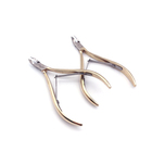 Nail Art Gold Stainless Steel Skin Callus Remover Cuticle Nipper