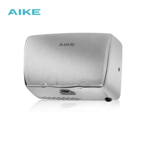 AIKE AK2803A Wholesale Automatic Stainless Steel Sensor Infrared Jet Air Small Body High Speed UV Hand Dryer for Toilet
