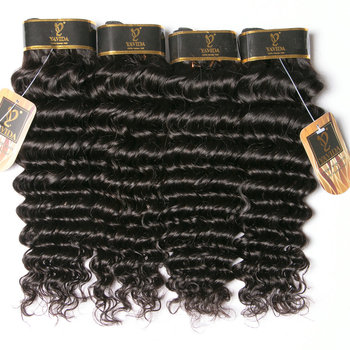 big deal free shipping virgin hair bundle deep wave human hair weave 4 pieces/set